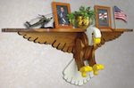 Eagle Shelf Woodworking Plan - fee plans from WoodworkersWorkshop® Online Store - eagles, shelfs,shelves,patriotic,full sized patterns,woodworking plans,woodworkers projects,blueprints,drawings,blueprints,how-to-build,MeiselWoodHobby