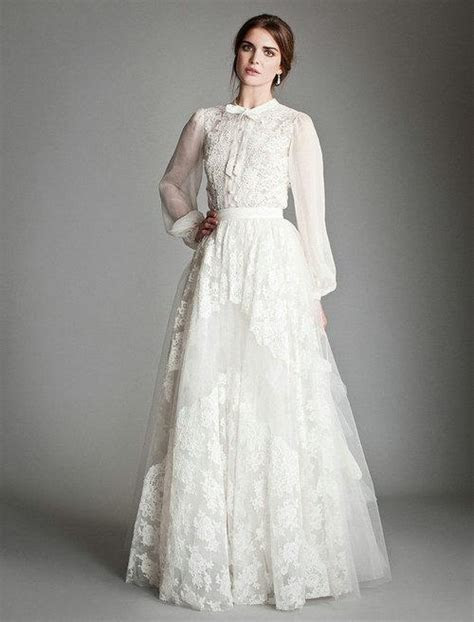 Discount Cheap Long Poet Sleeve Lace Wedding Dress UK