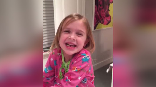 Watch this little girl have best reaction ever to losing first tooth