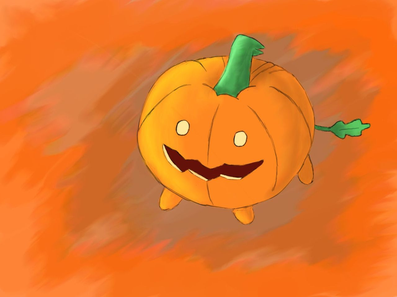 In honour of the release of Gem Harvest. Here's some pumpkin dog:)