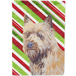 Cairn Terrier Candy Cane Holiday Christmas Flag Garden Size