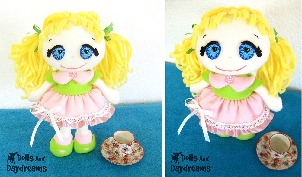 fleece doll pdf sewing pattern dolls and daydreams kawaii cute