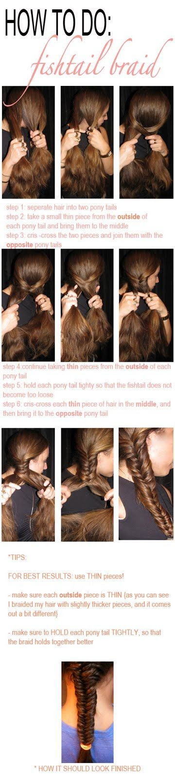 fish tail braid - diy
