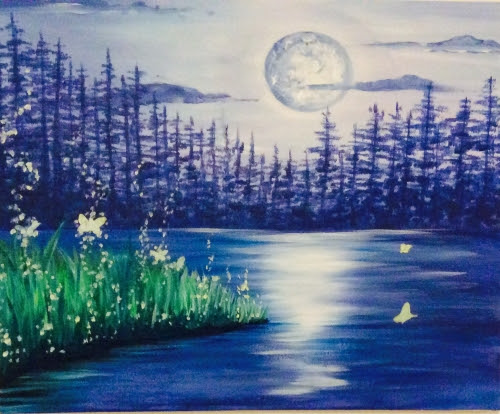 Calm Night 2 at Aw Shucks Country Store - Paint Nite Events