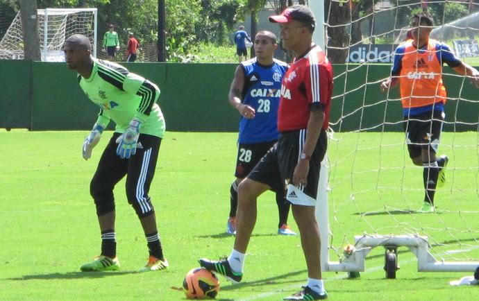 Jayme de Almeida treino Flamengo (Foto: Richard Souza)
