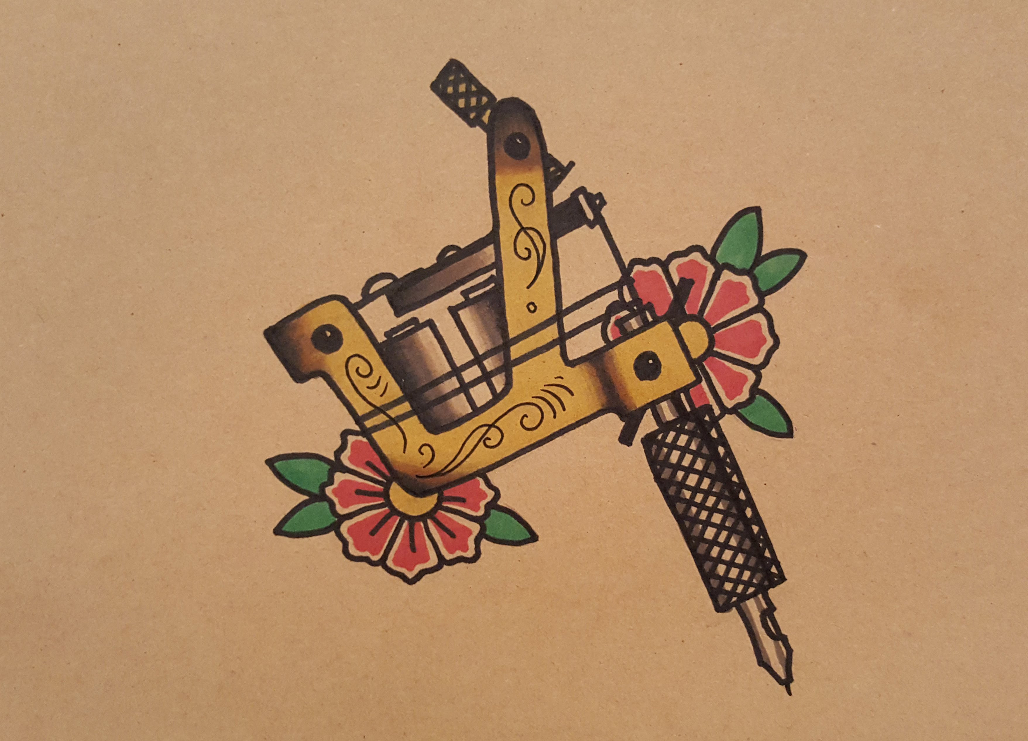 Tattoo Machine Tattoo Picture New School Gun Tattoos Designs