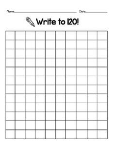 120 chart, Common core math and 1st grades on Pinterest