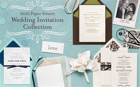 Introducing the 2010 Paper Source Wedding Invitation
