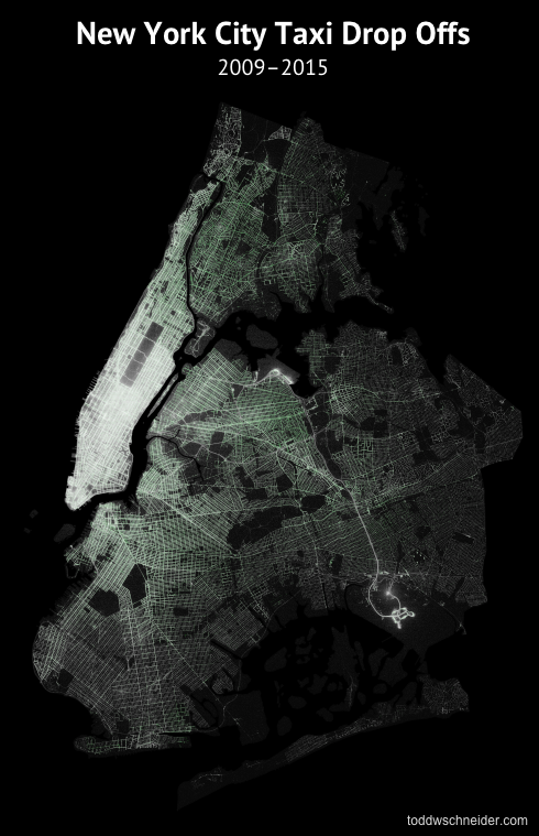 Analyzing 1.1 Billion NYC Taxi and Uber Trips, with a Vengeance
