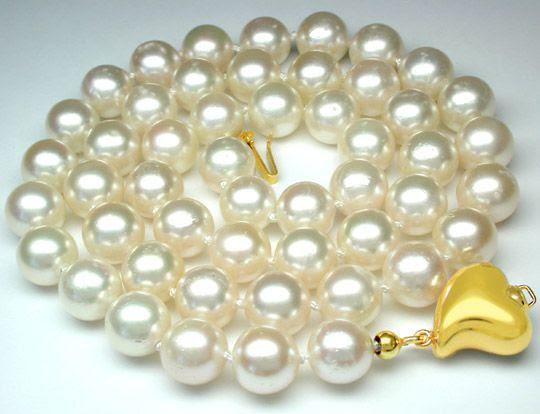 Foto 1, Neu! -8,5mm Perlenkette Spitzenqualität Luxus Portofrei, S8207