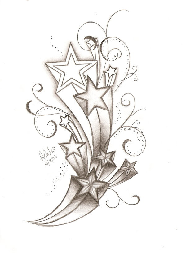 Free Drawings Of Star Tattoos Download Free Clip Art Free Clip Art