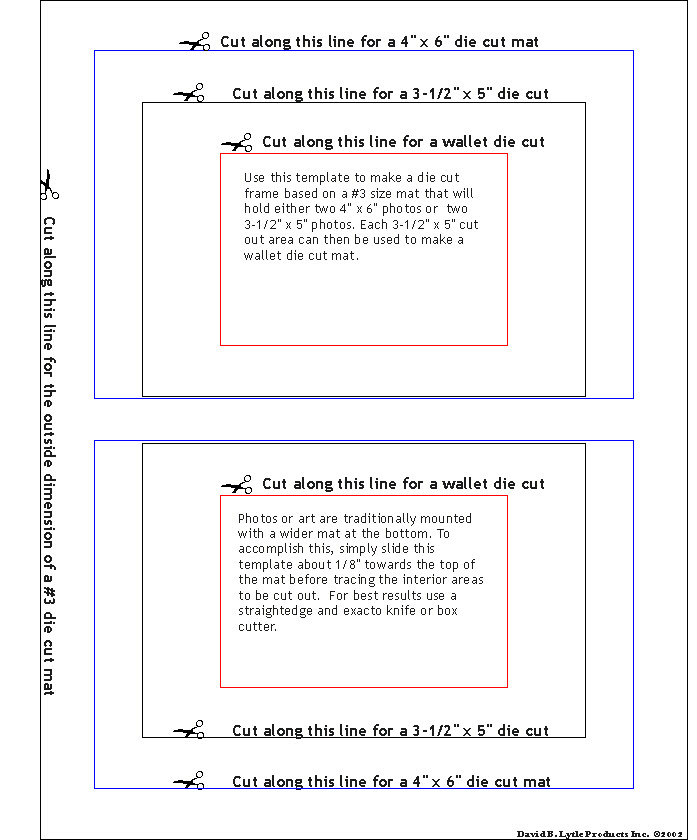 Do It Yourself Die Cut Matnframe Templates By Lytle