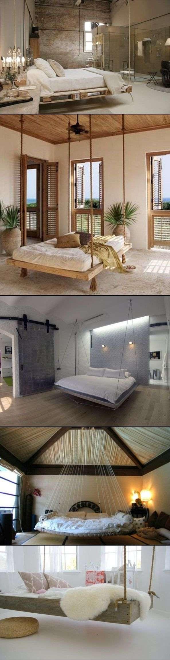 Modern Hanging Pallet Bed