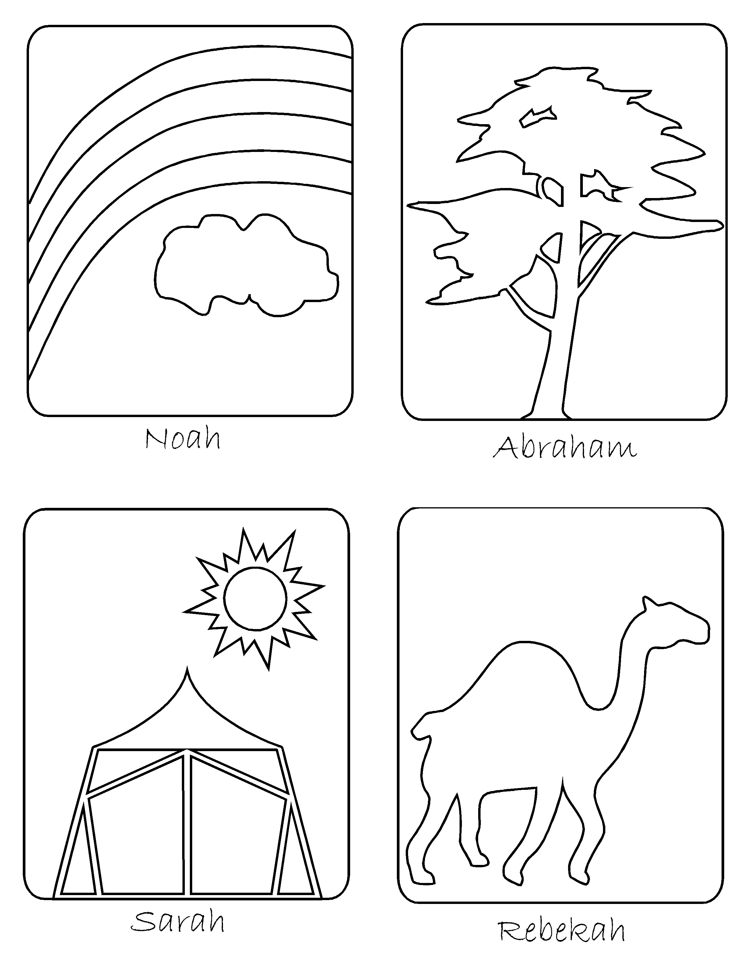 jesse tree coloring pages - photo#17