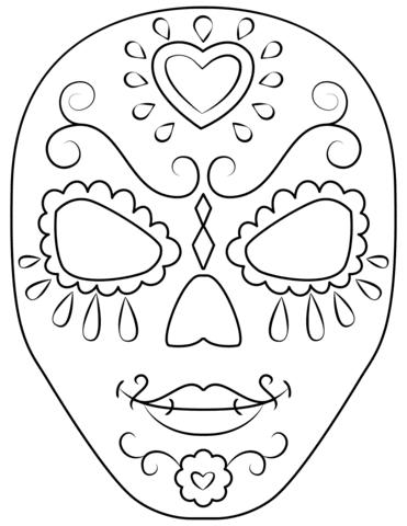 Dibujo De Calavera Para Colorear Dibujos Para Colorear Imprimir Gratis