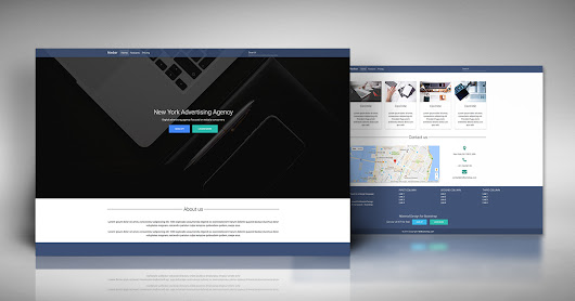 Bootstrap Basic Landing Page Template