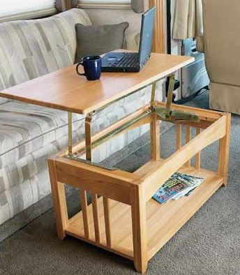 Multipurpose Lift Top RV Coffee Table that is Just Right ...