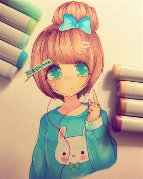 practice copic marker art cute art anime art