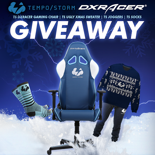 Tempo Storm DXRacer Gaming Chair, Ugly Xmas Sweater, Joggers, & Socks Giveaway
