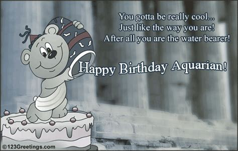 Fun Aquarius Birthday Wish! Free Zodiac eCards, Greeting