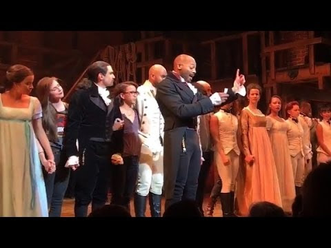 VP Elect Mike Pence Booed and Lectured at Hamilton Performance