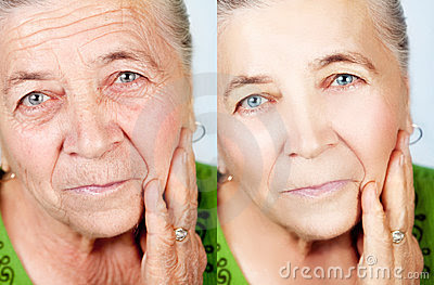 Beauty and skincare concept - no aging wrinkles Stock Photos - Image: 14508503