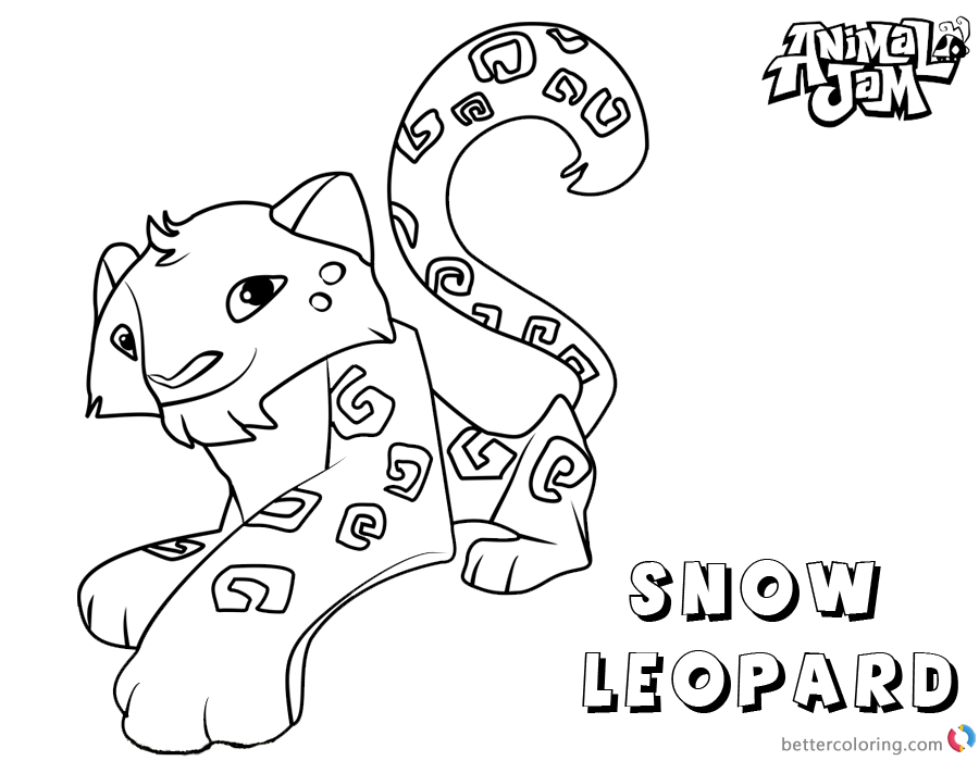 Animal Jam Arctic Wolf With Spike Coloring Pages Coloring ...