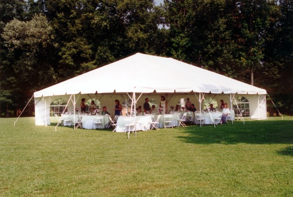20 X 40 Frame Tent Rentals In Wisconsin Chair Table Glassware