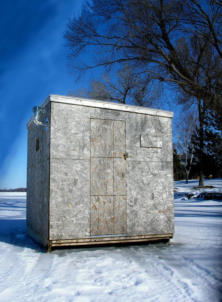 Ice house on blocks