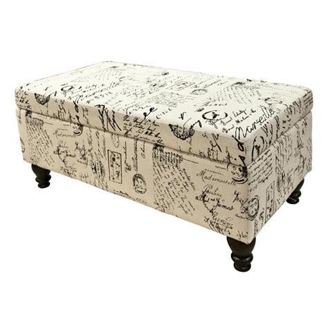 french script storage bench nebraska furniture mart jk
