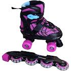 Schwinn Adjustable 2-in-1 Quad/Inline Skate, Black/Pink, Size 5-8