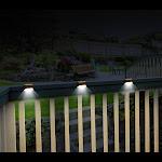 Set Of 3 Solar Deck Lights - Domestify, Brown