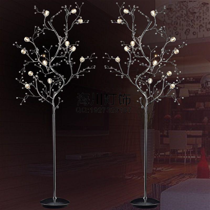 branch crystal floor lamp living room bedroom