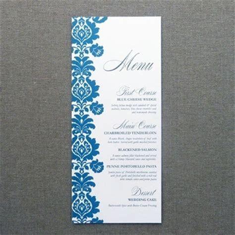 Menu Card Template ? Rococo Design ? Download & Print
