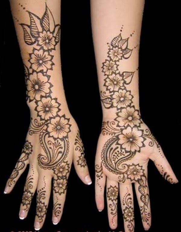 stylish mehndi arabic simple easy front hand modern mehndi design