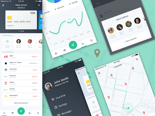 Personal Finance - Concept App Sketch freebie - Download free resource for Sketch - Sketch App Sources