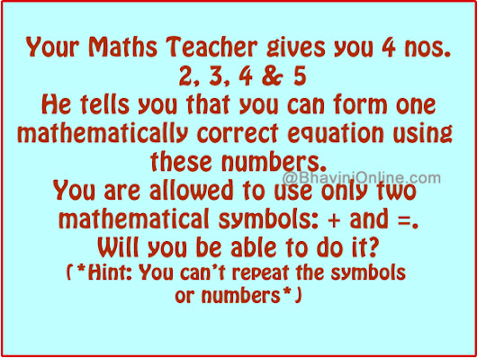 Solve This Fun Math Riddle And Leave Your Answers In The Comment