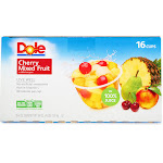 Dole Cherry Mixed Fruit - 16 pack, 4 fl oz cups