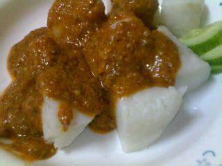 nasi impit  kuah kacang malaysian recipe