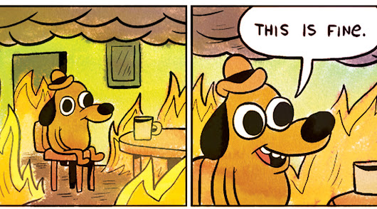 "Why the GOP Twitter couldn't pull off the ""This is fine"" meme"