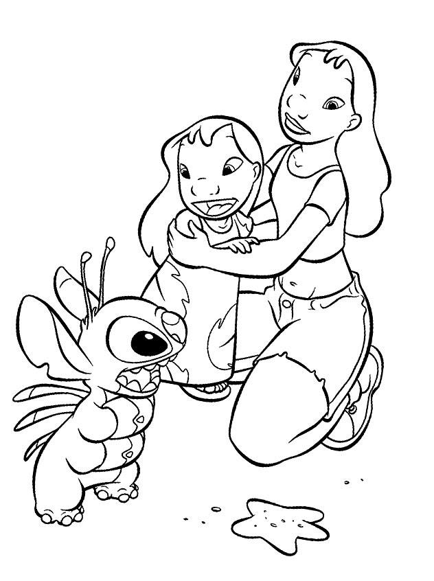 Dibujos Para Colorear Lilo Y Stitch Para Niñas Y Niños