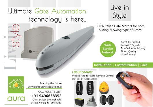 Gate Automation Kerala - Remote Controlled Gates, Automatic Gates in Kerala - AURA BUSINESS SOLUTIONS