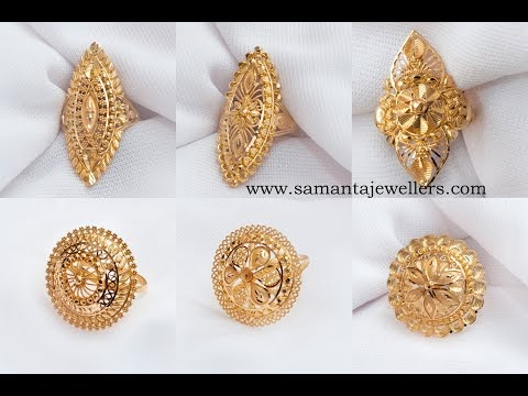 Gold Rings Designs | Latest Designs Of Gold Rings For Womens | Gold Finger Ring Designs For Ladies