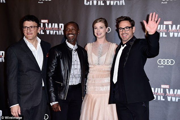 The gang:Civil War tells the story of new government laws being introduced to regulate superheros, which divides the entire team into two factions; one lead by Captain America who resists it, the other by Robert Downey Jr's Iron Man, who wants to enforce it