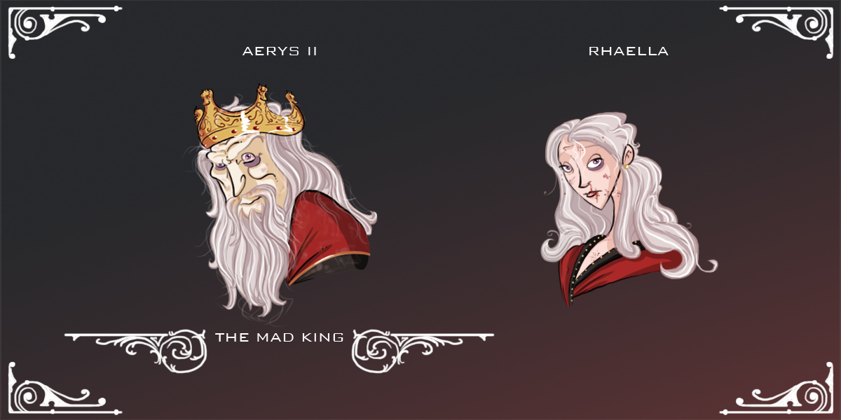 Jaehaerys II and Shaera had only two children, Aerys and Rhaella. Before he became king, Jaehaerys II heard a prophecy that The Prince Who Was Promised would be born from their union. So against the King's wishes he had them married, despite the fact...