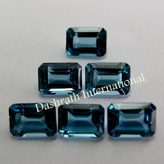 Natural London Blue Topaz 7x5mm Cut Octagon 1 Pieces Top Quality Loose Gemstone