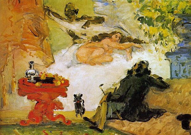 Una moderna Olimpia de Paul Cézanne