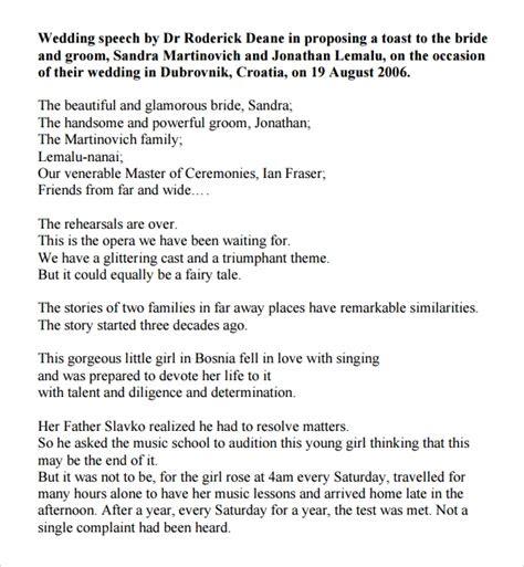 wedding speech examples