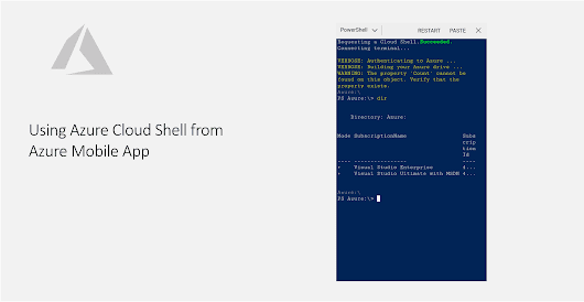 Using Azure Cloud Shell from Azure Mobile App - Daily .NET Tips