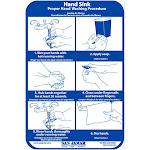 San Jamar HWWLCT Hand Washing Station Smart Chart